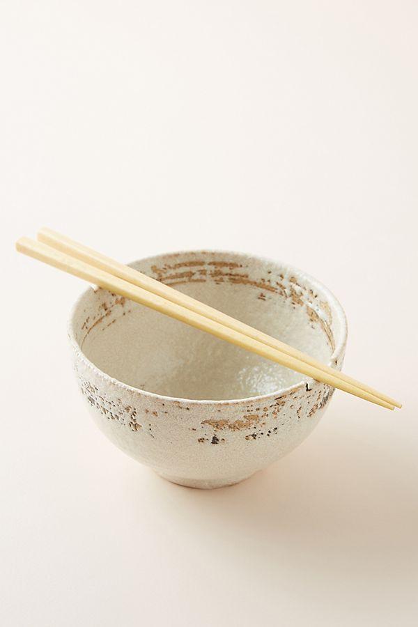 Kyoto Bowl + Chopsticks Set by Anthropologie
