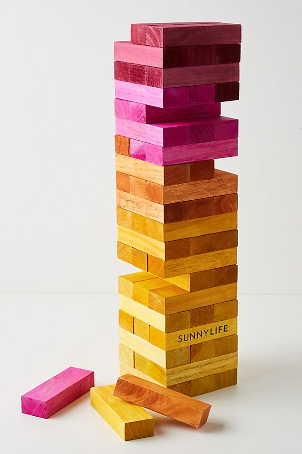 Slide View: 1: Sunnylife Giant Jumbling Tower Game