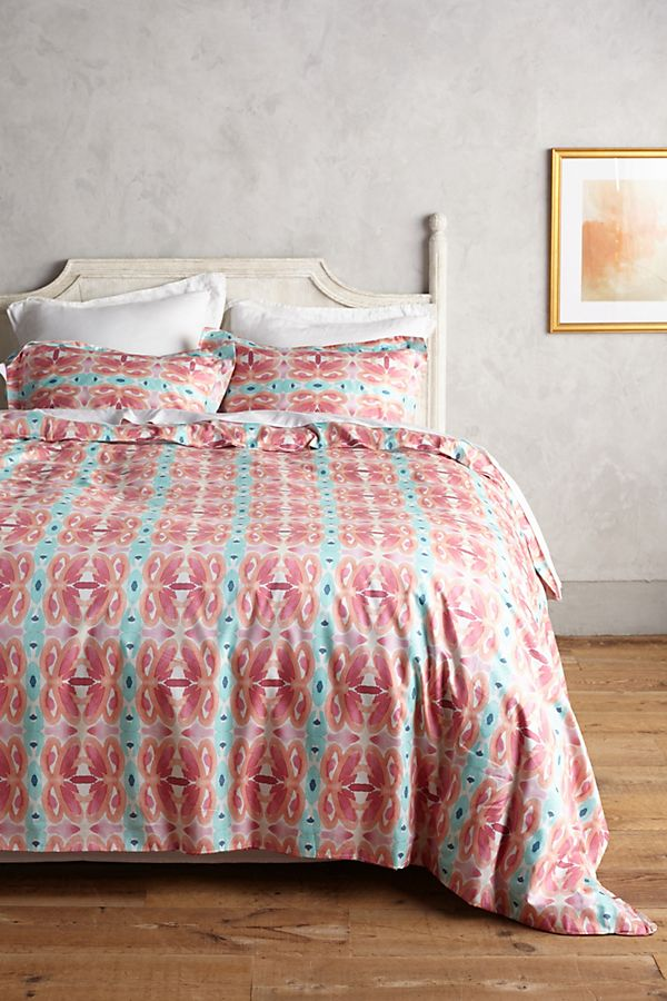 Slide View: 1: Bunglo Rose Fields Duvet