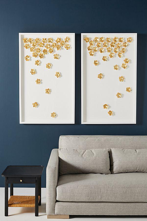 Slide View: 2: Cascading Flowers Wall Art