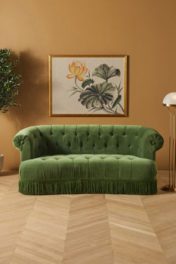 Soho Home x Anthropologie Curved Chesterfield Sofa