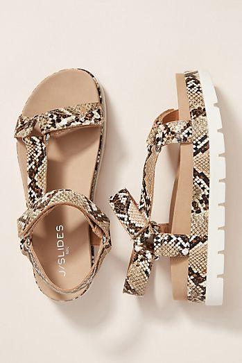 8f3b7cee1237 J Slides Snake-Printed Sport Sandals