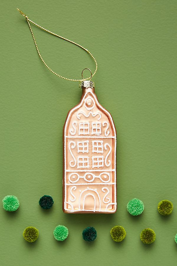 Gingerbread Cookie House Ornament by Anthropologie
