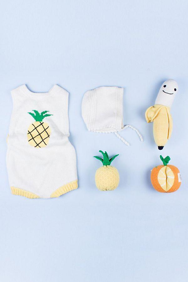 Slide View: 1: Estella Pineapple Sleeveless Baby Gift Set