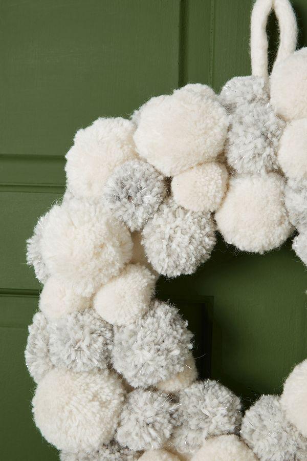 Slide View: 2: Blizzard Pom Wreath