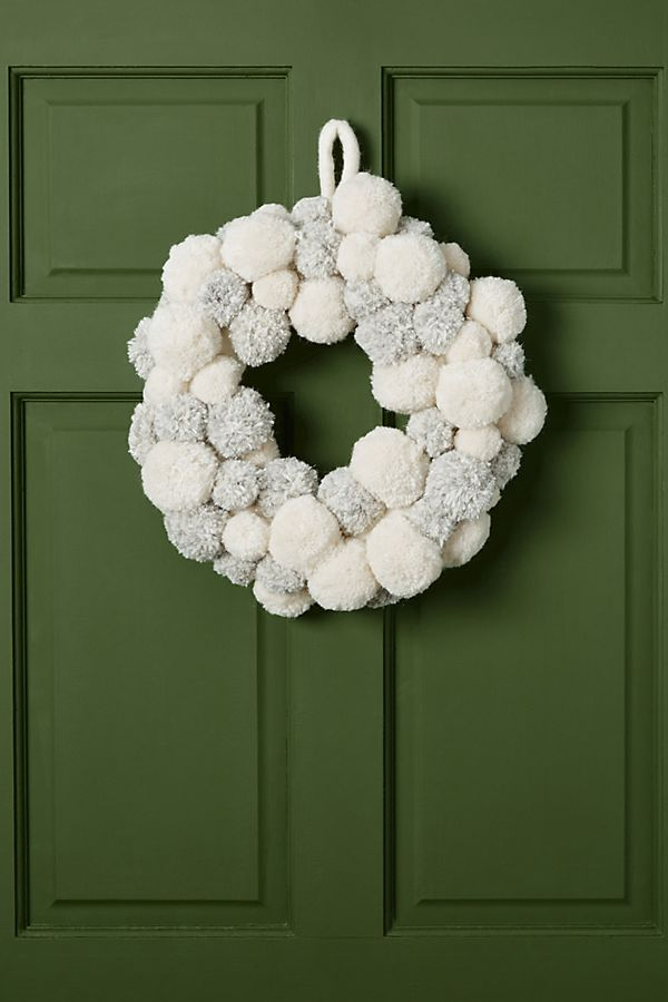 Blizzard Pom Wreath by Anthropologie