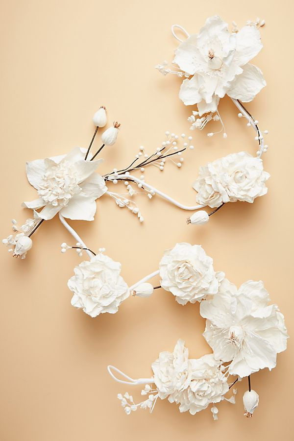 Slide View: 1: Mulberry Paper Flower Garland