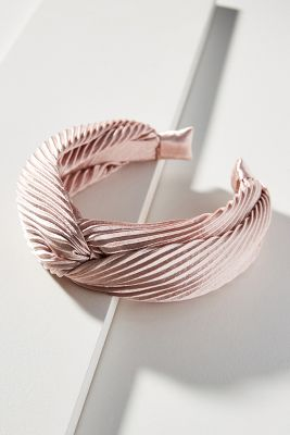 Shimmer Knotted Headband by Anthropologie