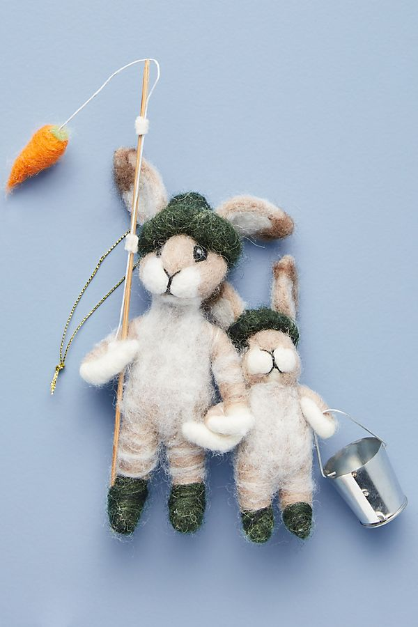 Slide View: 1: Artemis Fibre Art Fishing For Carrots Ornament