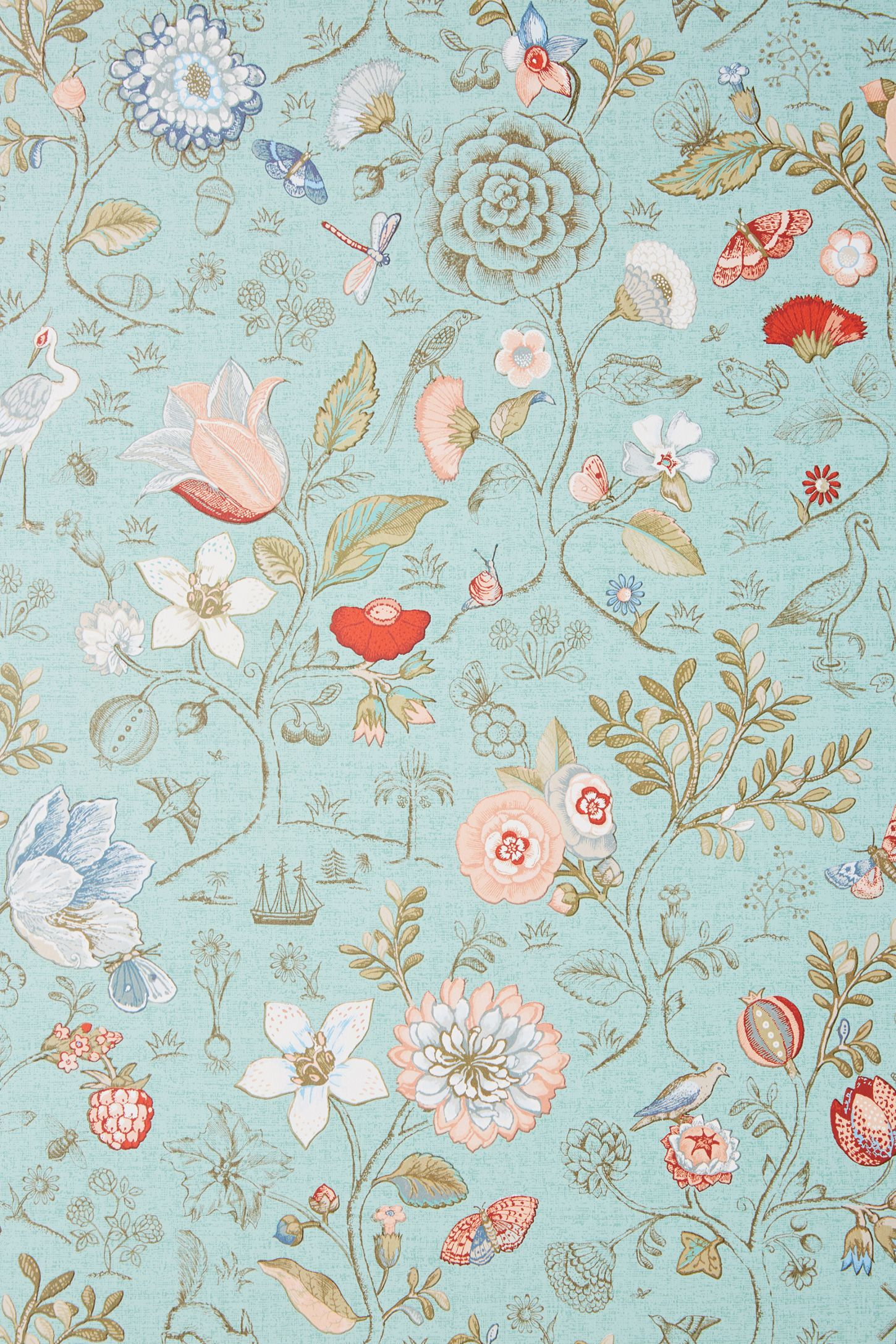 Espen Floral Wallpaper Anthropologie