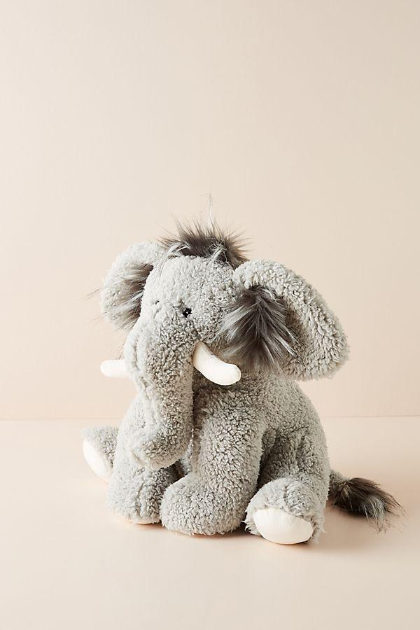 Slide View: 1: Murray the Mammoth Stuffed Animal