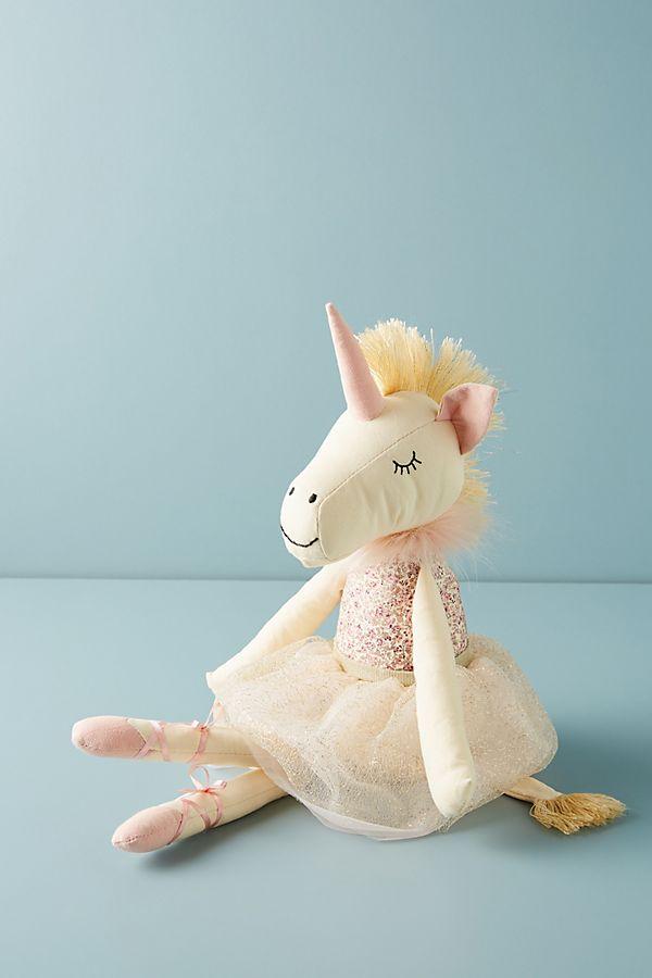 Slide View: 1: Aurora the Unicorn Stuffed Animal