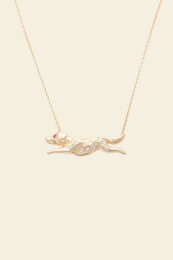 Slide View: 1: Erica Weiner Diamond Dog Necklace
