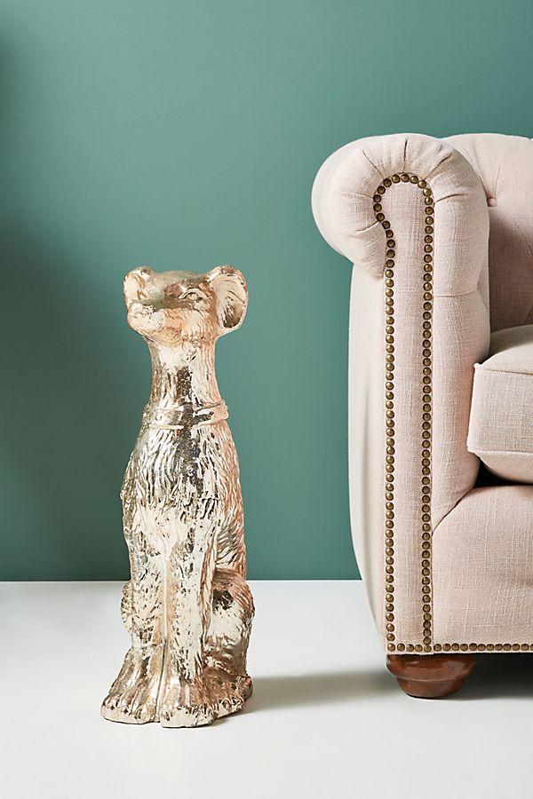 Slide View: 1: Terracotta Dog Garden Statue