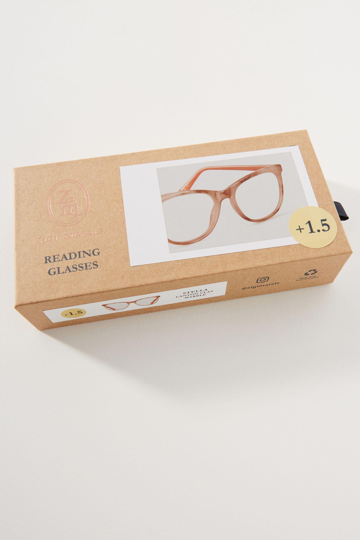 7efff3fb6f7f ZiGi + MARAiS Mixed Materials Round Reading Glasses   Anthropologie