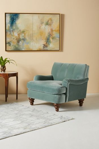 Channel-Tufted Occasional Chair