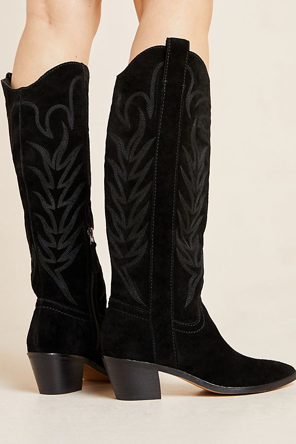 Slide View: 2: Dolce Vita Soleil Western Knee-High Boots