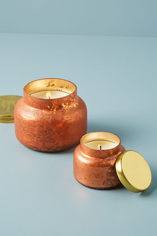 Slide View: 3: Mini Capri Blue Pumpkin Clove Jar Candle
