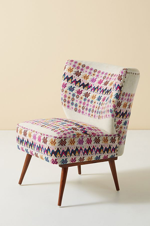 Slide View: 2: Woven Viola Petite Accent Chair