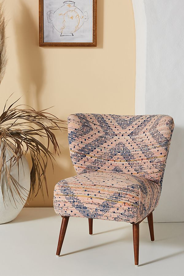Slide View: 1: Alaris Rug-Printed Petite Accent Chair
