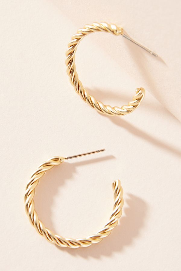 Lyra Twisted Hoop Earrings