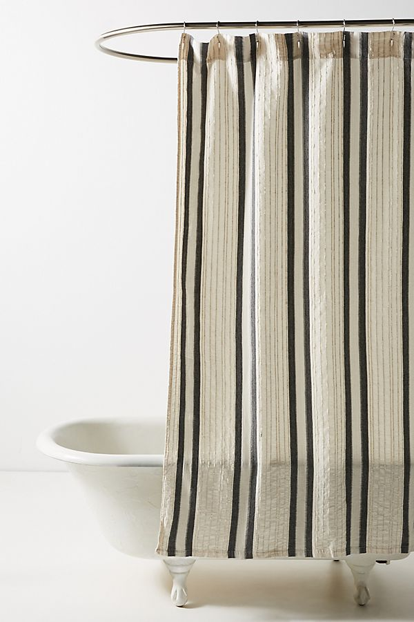 Slide View: 1: Woven Oliver Shower Curtain