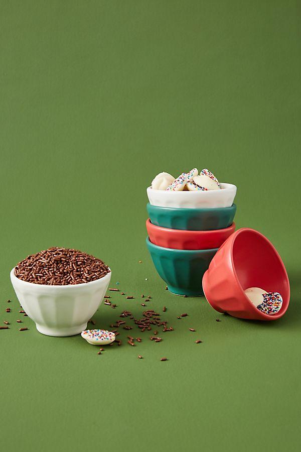 Slide View: 1: Holiday Mini Matte Latte Bowls, Set of 6