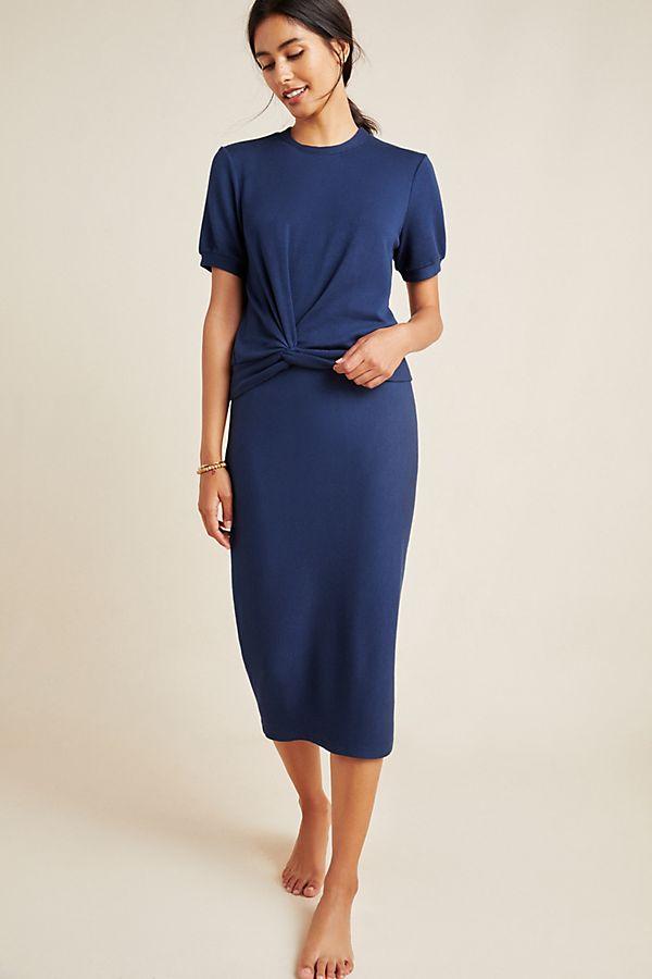 Stateside Fleece Pencil Skirt by Stateside
