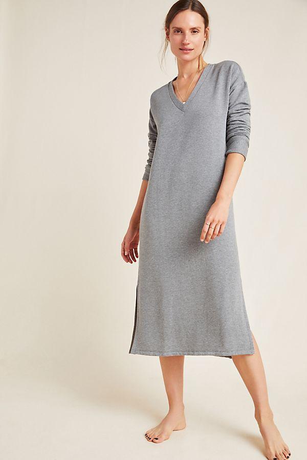 Slide View: 1: Stateside Carey Fleece Midi Dress