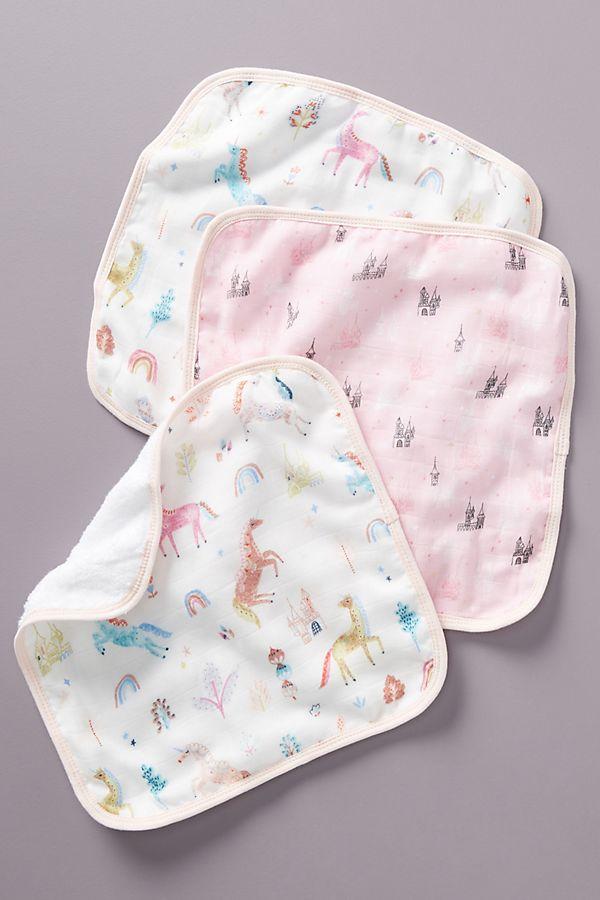 Slide View: 1: Safari Washcloths, Set of 3