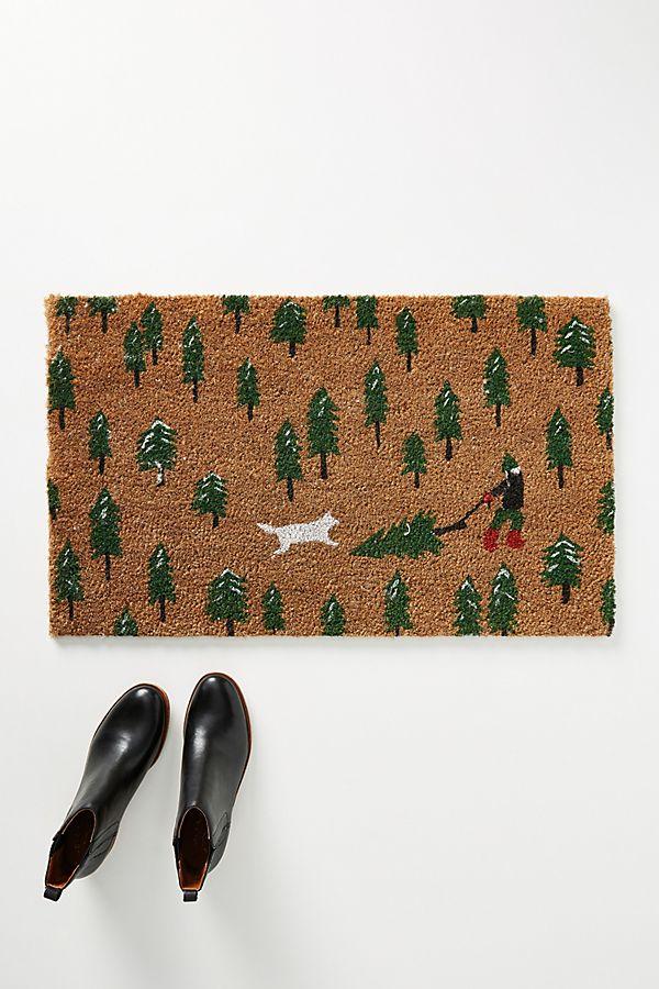 Slide View: 1: Tree Farm Dog Doormat