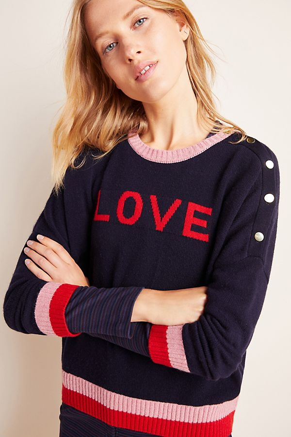 Slide View: 1: Sundry Love Button Sweater