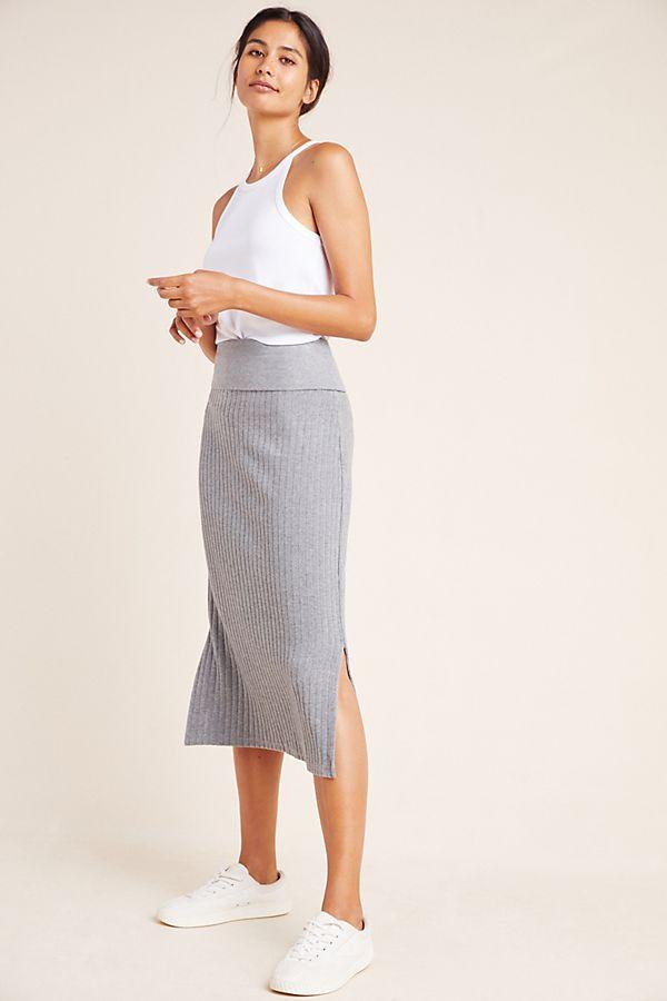 Slide View: 1: Caro Ribbed Pencil Skirt