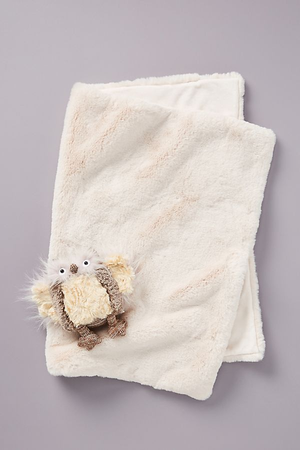 Slide View: 1: Emma Faux Fur Baby Blanket