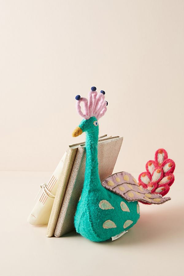 Slide View: 4: Peacock Bookend