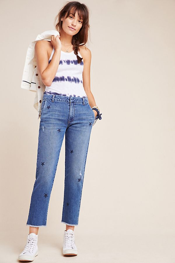Slide View: 1: Sundry Stars Relaxed Straight Jeans