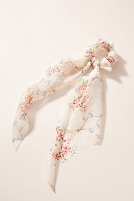 Frances Floral Scarf Ponytail Holder by Anthropologie