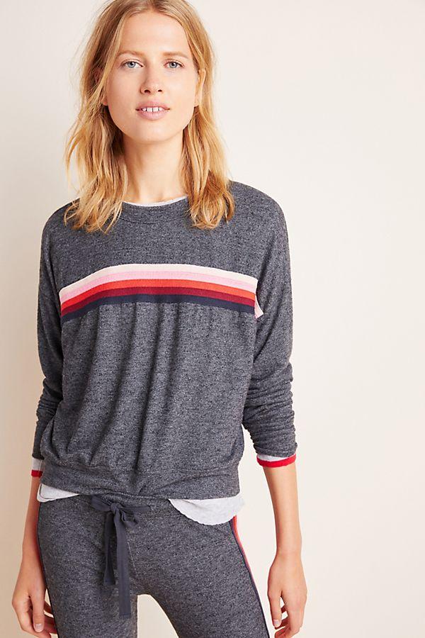 Slide View: 1: Sundry Shauna Striped Sweater