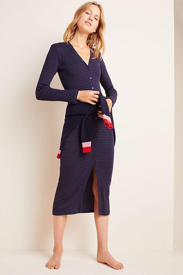 Slide View: 1: Sundry Button-Front Midi Dress