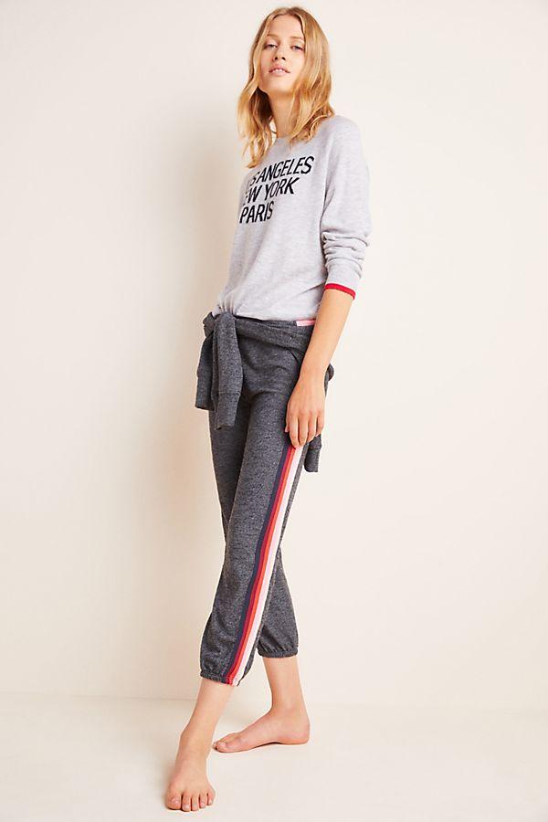 Slide View: 1: Sundry Roselle Striped Sweatpants