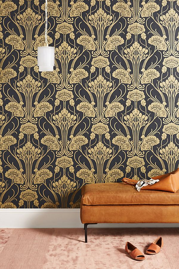 Slide View: 1: Nouveau Damask Wallpaper