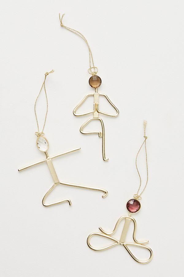 Shoptagr Yogi Ornaments Set Of 3 By Anthropologie