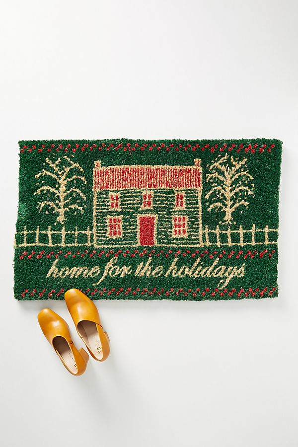 Slide View: 1: Home For The Holidays Doormat