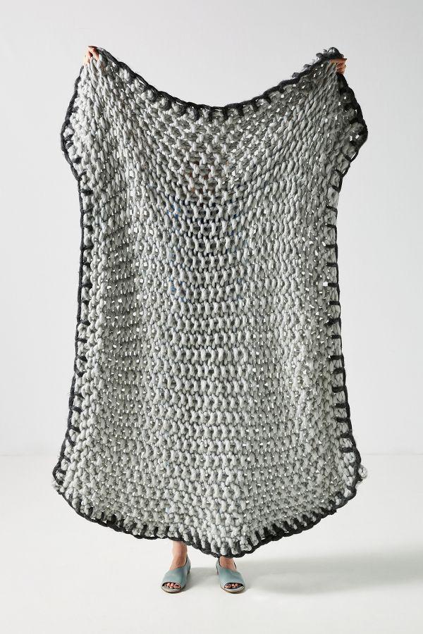 Anthropologie Chunky Knit Blanket
