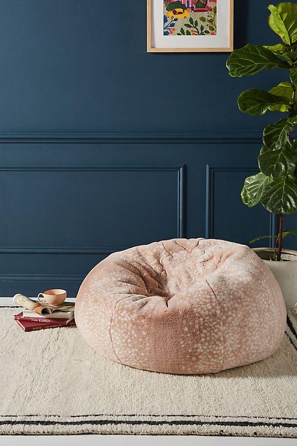 Slide View: 1: Sophie Faux Fur Beanbag Pillow
