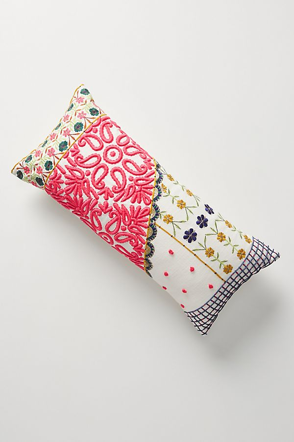 Slide View: 1: Embroidered Lizzie Pillow
