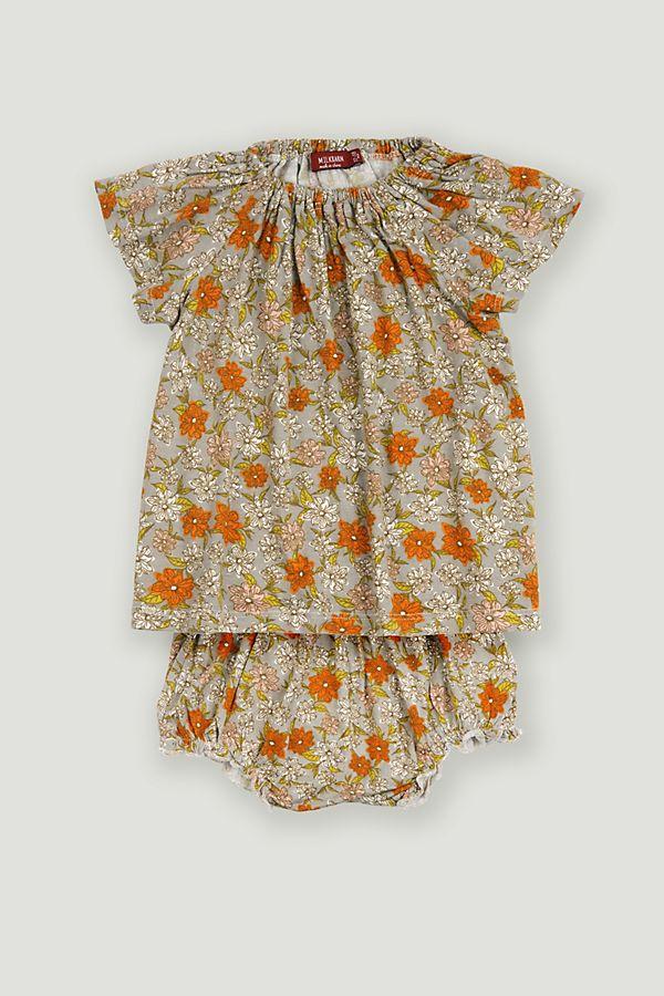 Slide View: 1: Milkbarn Bamboo Dress and Bloomer Set
