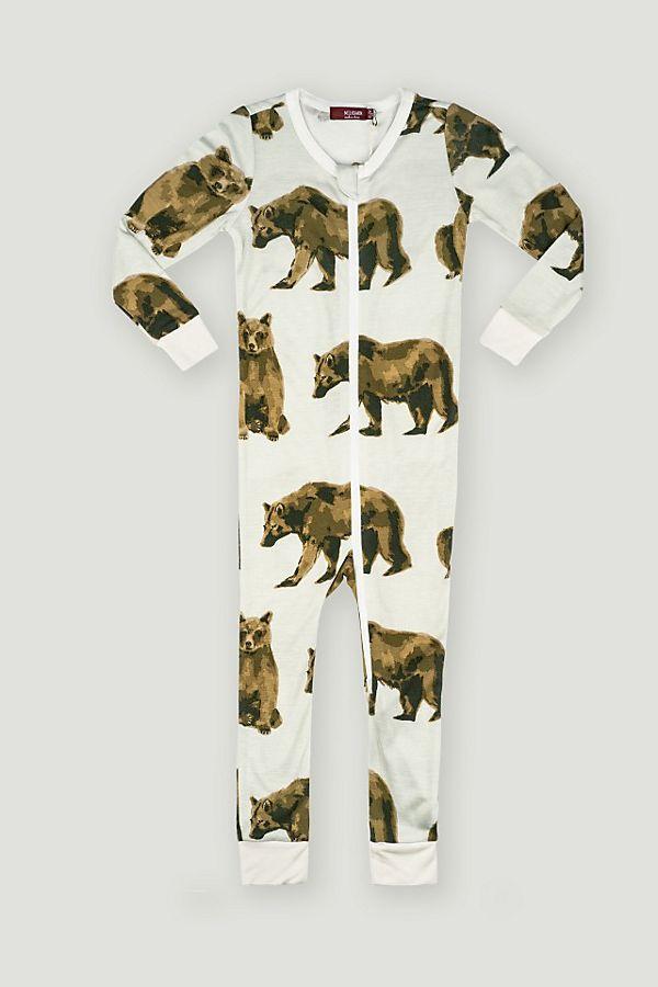 Slide View: 1: Milkbarn Bamboo Zipper Pajama