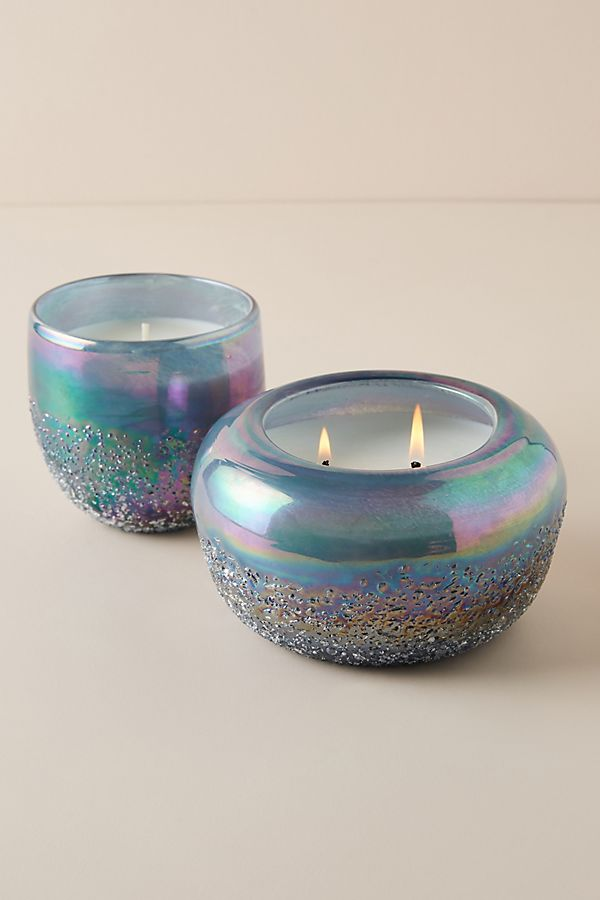 Slide View: 1: Artisan Glass Candle