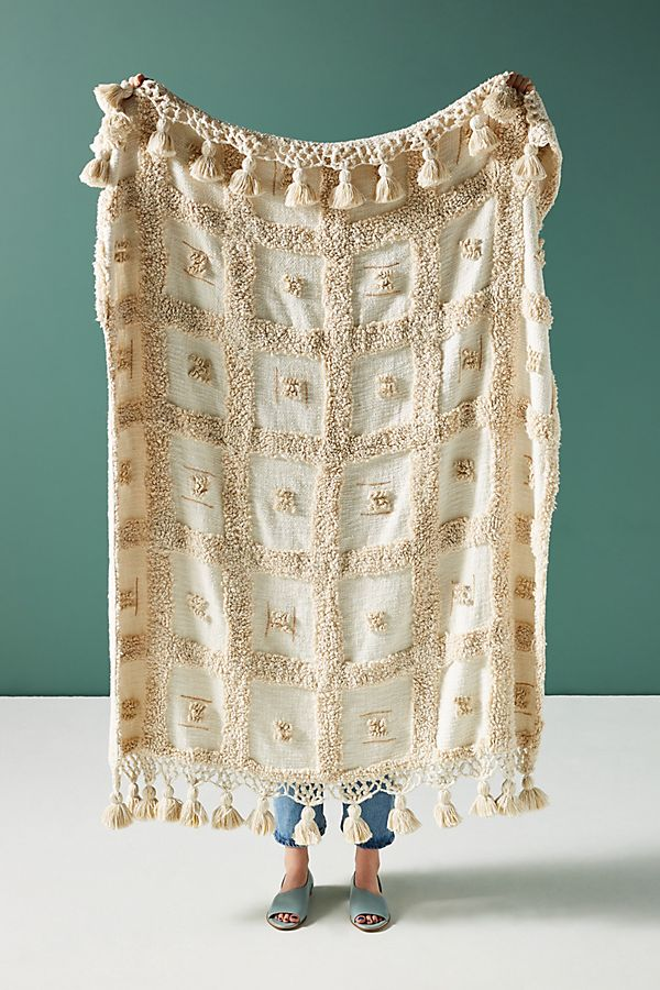 Slide View: 1: Tasseled Tero Throw Blanket